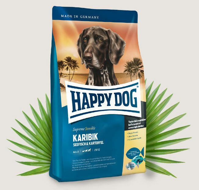 happy dog supreme karibik arvokasta merikalaa sis lt en sopii ihanteellisesti allergikoille. Black Bedroom Furniture Sets. Home Design Ideas