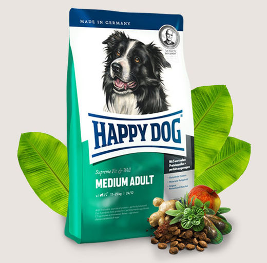 Happy Dog Supreme Fit & Well Medium Adult - Maksimaalisen tasapainoinen keskikokoisille roduille 12,5kg